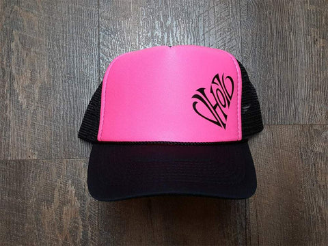 Snapback: Heart Foam Trucker (Pink/Black) - VH07V