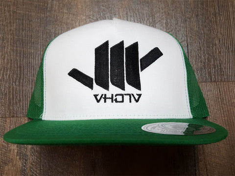 Snapback: Shaka Trucker (White/Green/Black)