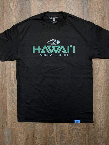 "Adult ""Hawaii"" HiLife Collab Tee (Black)"