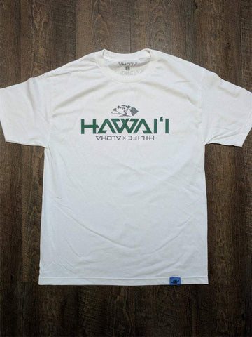 "Adult ""Hawaii"" HiLife Collab Tee (White) - VH07V"