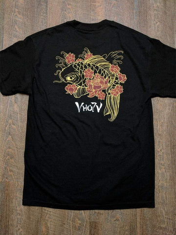 "Adult ""Koi"" Tee (Black)"