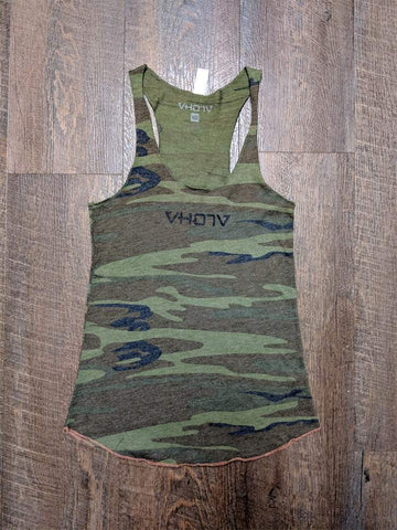 "Ladies ""Logo"" Eco Racerback (Camo/Black)"