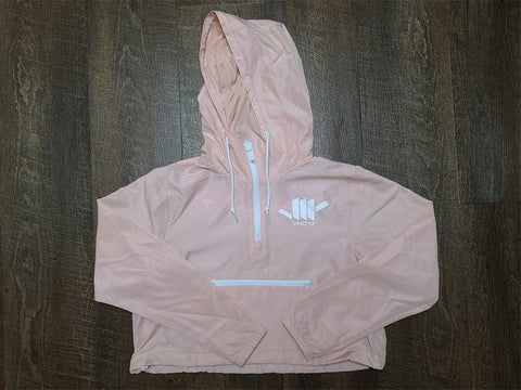 Ladies Lightweight Crop Windbreaker (Blush) - VH07V