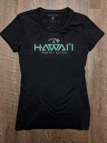 "Ladies ""Hawaii"" HiLife Collab Jersey Tee (Black)"