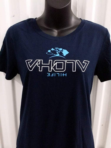 "Ladies ""HiLife"" Collab Crew Tee (Navy) - VH07V"