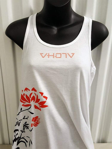 "Ladies ""Lotus"" Racerback (White)"