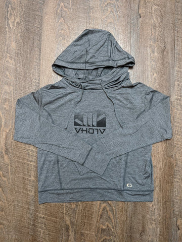 "Ladies ""Wave"" Shaka Hoodie (Gear Gray Heather) - VH07V"