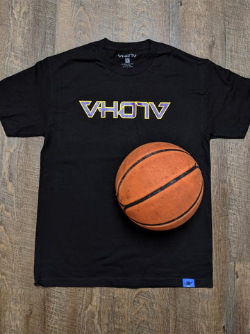 Adult Logo Tee (Black/Purple/Gold) Outline - VH07V