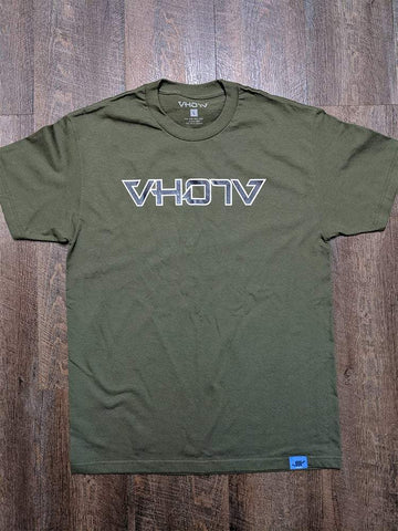 Adult Logo Tee (Military Green/Black) Outline - VH07V