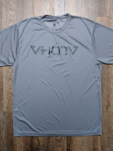 Adult Moisture Wicking T-shirt (Graphite/Black) - VH07V