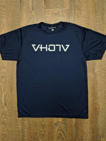 Adult Moisture Wicking T-shirt (Navy/Silver) - VH07V