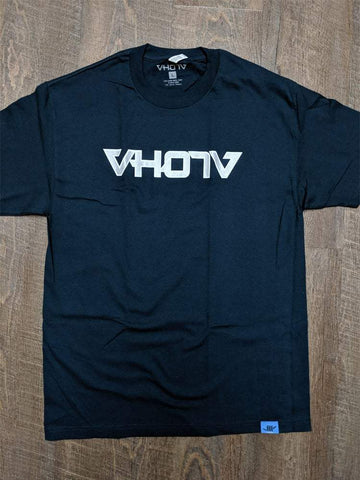 Adult Logo Tee (Navy/Silver) Outline - VH07V
