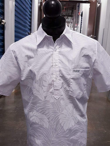 All White Floral - Pocket Aloha Shirt - VH07V