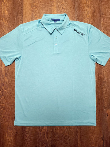 Adult Moisture Wicking Performance Polo (Maui Blue)