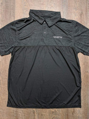 Tonal Heather Polo (Black)