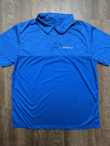 Tonal Heather Polo (Blue) - VH07V