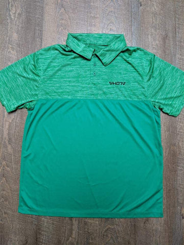 Tonal Heather Polo (Green) - VH07V