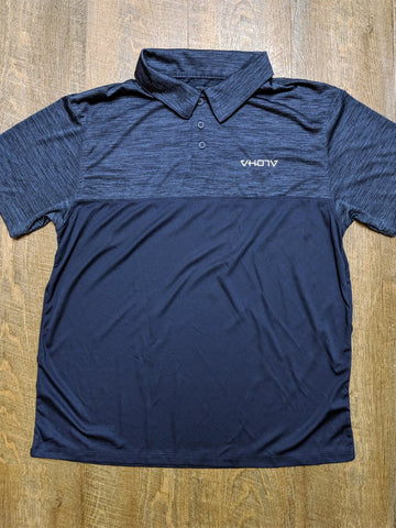 Tonal Heather Polo (Navy) - VH07V