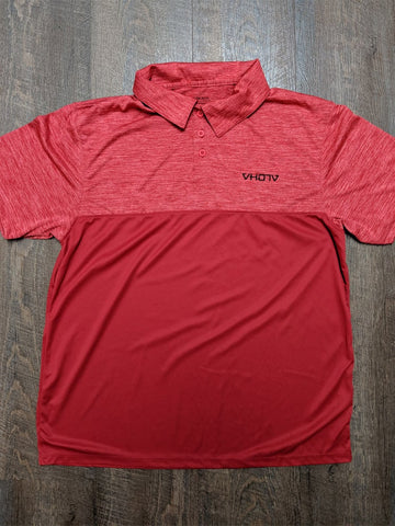 Tonal Heather Polo (Red) - VH07V