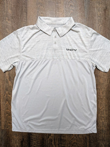 Tonal Heather Polo (Silver) - VH07V