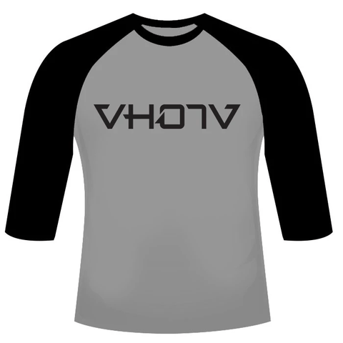 Adult Logo Raglan (Athletic Heather/Black)