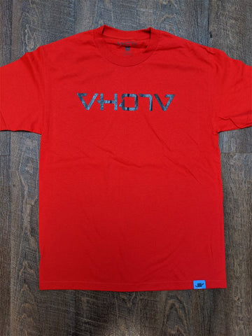 Adult Logo Tee (Red/Black - Solid) - VH07V