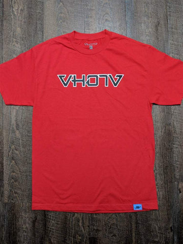 Adult Logo Tee (Red/Black) Outline - VH07V