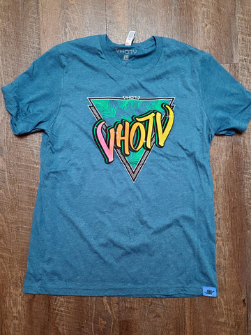 "Heather CVC ""Retro"" Tee (Heather Deep Teal)"