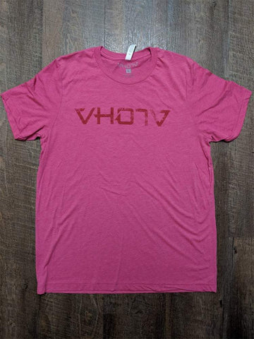 "Soft Triblend ""Fade"" Tee (Berry/Red) - VH07V"