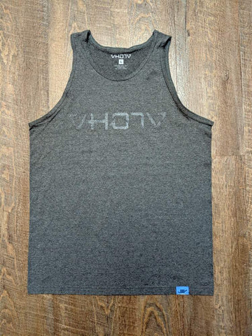 Adult Logo Tank (Charcoal Heather/Black)
