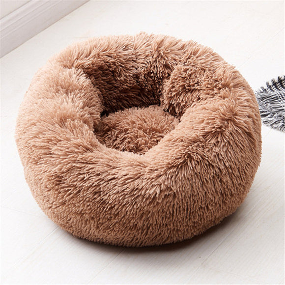 Luxurious washable dog bed (also for cats) in brown