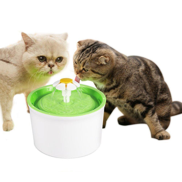 Automatic cat water fountain with filters