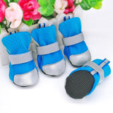 Reflective dog winter boots, suitable for cats - in blue