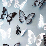 Black and white beautiful crystal butterfly wall decoration