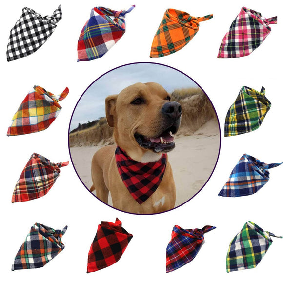 Plaid dog bandanas - colorful fashion options for all dogs