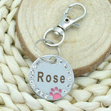 Name and clip engraved dog tags (also for cats)
