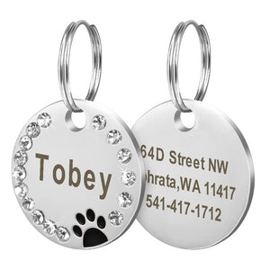 Variety of engraved dog tags (also for cats)