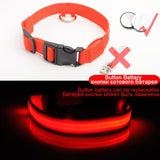 Lighted dog collars - red - battery charging