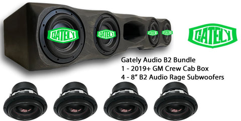 "B2 Audio Bundle - 4 x 8"" Rage - GM Crew Cab 2019+"