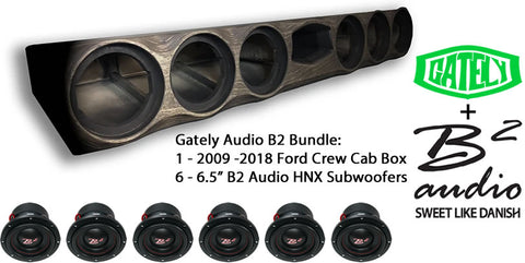 "B2 Audio Bundle - 6 x 6.5"" Ford CrewCab 2009-2018"