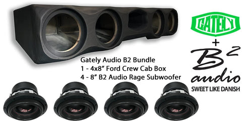 "B2 Audio Bundle - 4 x 8"" Rage - Ford Crew Cab with Seat Lift Kit"