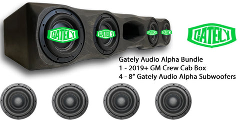 "Gately Audio Bundle - 4 x 8"" Alpha - GM Crew Cab 2019+"
