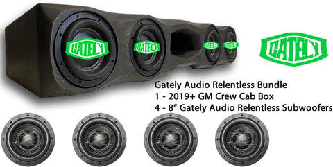 "Gately Audio Bundle - 4 x 8"" Relentless - GM Crew Cab 2019+"