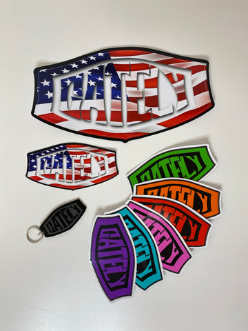 Gately Sticker Pack with Gately Placard Keychain