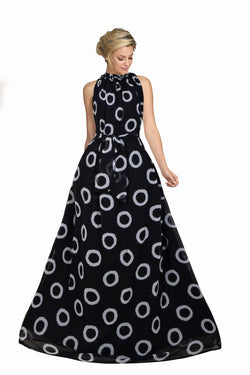 Prominent Black Colored Georgette Printed Long Anarkali Gown - KT01_Black