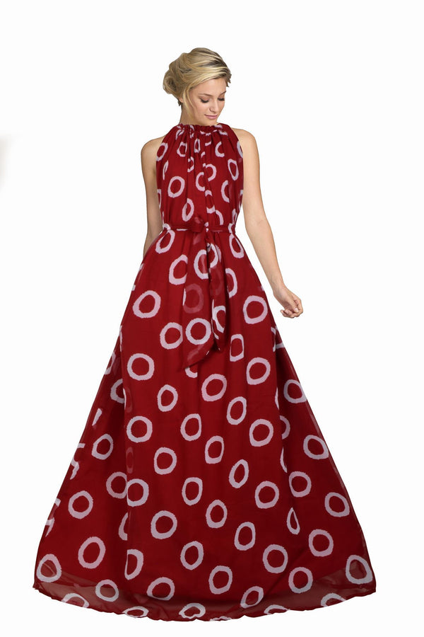 Admiring Red Colored Georgette Printed Long Anarkali Gown - KT01_Red