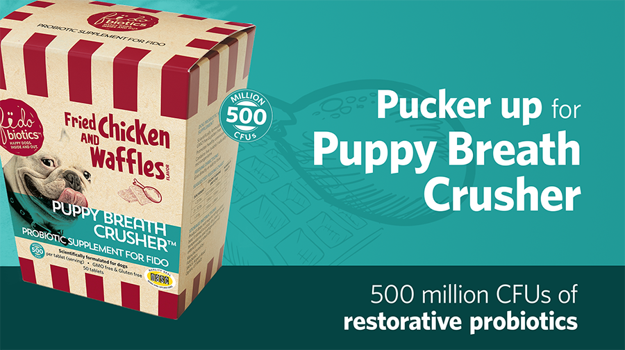 Puppy Breath Crusher - Probiotic Supplement For Bad Breath In Dogs