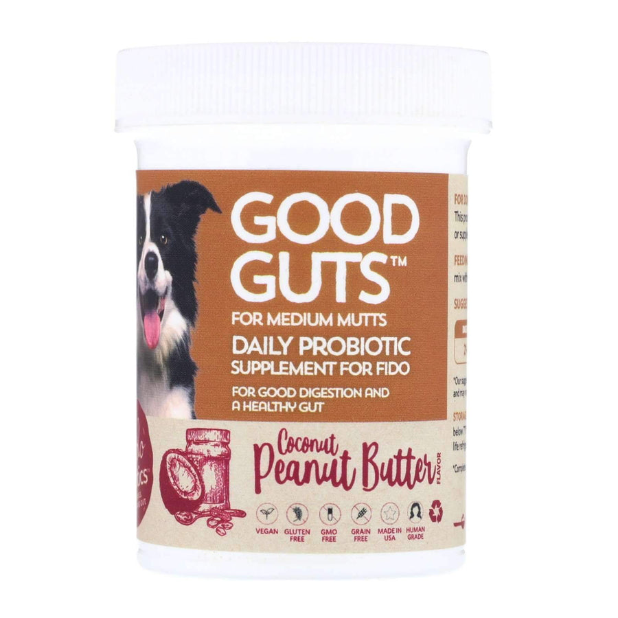 Good Guts for Medium Mutts - Human Grade Probiotic Powder For Dogs - Fidobiotics - probiotics for dogs and cats
