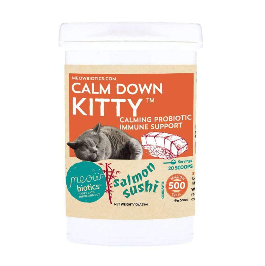 Calm Down Kitty Salmon Sushi (NO HEMP) - Fidobiotics - probiotics for dogs and cats