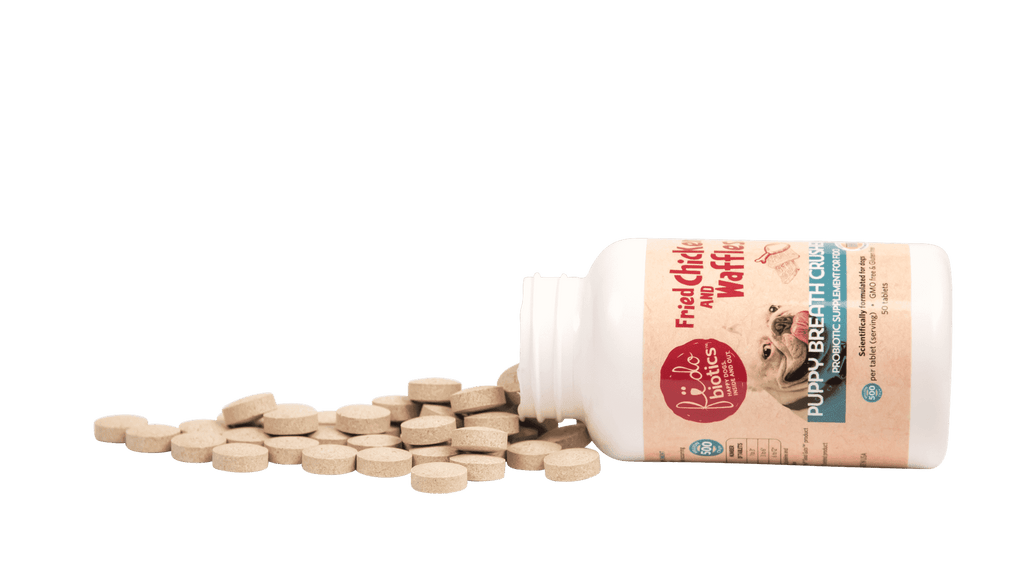 Puppy Breath Crusher tablets - bad breath remedy - Fidobiotics